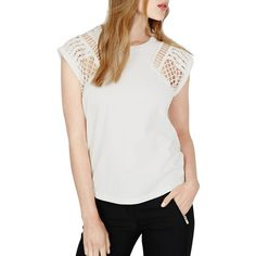 Maje, official US website. A ready-to-wear brand for women. Kooples, Cut Out Top, Maje, Fall Collections, Ready To Wear, T Shirt, Sleeves, How To Wear, Women