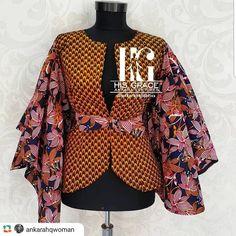 Latest Trendy Ankara Jackets And Blazers Styles African Fashion Ankara, Latest African Fashion Dresses, African Print Dresses, African Print Fashion, Africa Fashion, African Blouses, African Tops, African Attire, African Wear