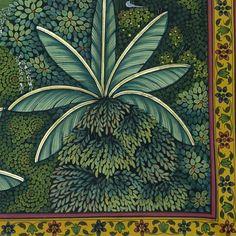 Shrinathji Swaroop Van Vihar - II – Artisera Pichwai Paintings, Middle Eastern Art, Indian Folk Art, Different Seasons, Ink Drawings, Lord Krishna, Tribal Art, Deities, Pattern Art