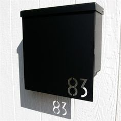 Custom House Number Mailbox No. 1310 Drop Front in Powder Coated Aluminum