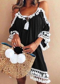 Female Spaghetti Strap Boho Dress Plus Size Summer Loose Beach Sundress Backless Short Sleeve Tassel Women Dresses Boho Dress Plus Size, Plus Size Sundress, Plus Size Dresses, Plus Size Outfits, Plus Size Bikini Bottoms, Women's Plus Size Swimwear, Top Mode, Plus Size Kleidung, Maxi Robes