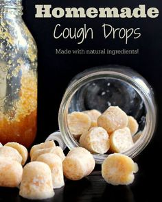 Feeling sick? These natural homemade cough drops are my go-to when I'm fighting a cold. Made with natural ingredients like raw honey which is known to help suppress coughing and immune boosting coconut oil you can't go wrong with this natural alternative! #coconutoil #rawhoney