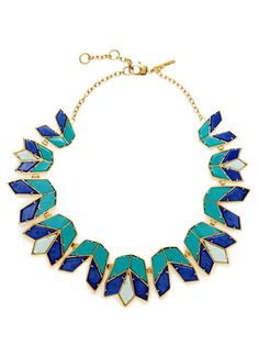 Aegean Blue Lotus Collar Necklace from Lele Sadoughi Jewelry on Gilt