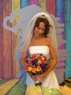 Bride, just before down the aisle
