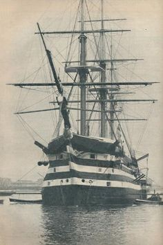 size: Photographic Print: 'HMS Victory before she was removed to dry dock in 1936 : Portsmouth Harbour, Old Sailing Ships, The Last Ship, Hms Victory, Naval History, Wooden Ship, Navy Ships, Wooden Boats, Boat Building