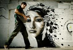 Street Art in Buenos Aires... love the picture, nice timing