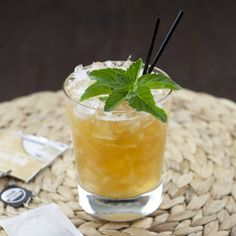 Coconut vanilla tea infused rum with pineapple, cinnamon syrup and more create this tiki-like cocktail.