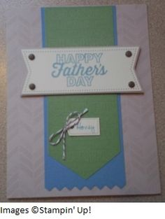 May Paper Pumpkin kit Father's Day card.