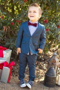 Cheap 2016 Summer Beach Boys Wedding Suits Blue Sets ( Pants +Jacket) Kids Tuxedo Suits Cute Formal Clothing
