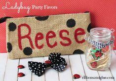 Ladybug Birthday Party - Ribbons