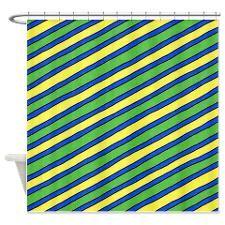 Bright Springtime Diagonals Shower Curtain
