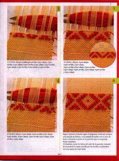 evia telar 2 2006 - Daina Veide - Álbuns da web do Picasa Weaving Loom Diy, Inkle Loom, Card Weaving, Tablet Weaving, Weaving Textiles, Weaving Patterns, Tapestry Weaving, Weaving Techniques, Embroidery Techniques