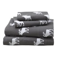 Goodnight Moose Flannel Sheet Set