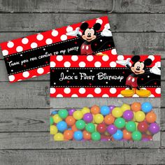Mickey Mouse Treat Bag Toppers Favor Bag by PartyPrintableInvite