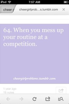 #cheergirlproblems