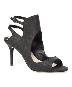 Another great find on #zulily! Black Ward Leather Sandal by Leon Max #zulilyfinds