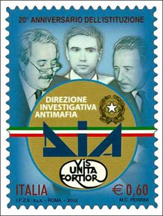 Anniversary of the Anti-Mafia Investigation Department Giovanni Falcone, Penny Black, 20th Anniversary, Stamp Collecting, Roman Empire, Postage Stamps, Investigations, Life, Law Enforcement