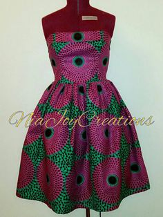 African Clothing: Robe à imprimé africain Nandi par NiajoyCreations
