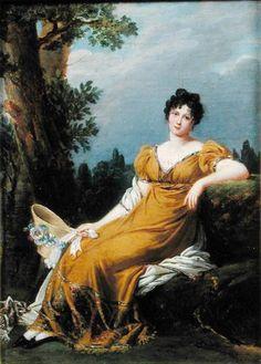 """""""Portrait of a Seated Woman"""" von Robert Jacques François Faust Lefèvre (geboren am 24. September 1755 in Bayeux, gestorben am 3. Oktober 1830 in Paris), französischer Porträt- und Historienmaler."""