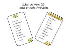 5 au quotidien: centre des mots: listes de mots CE1