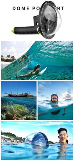 GoPro Dome Port. Shoot split underwater photography shots that capture both what is above and under the water at the same time.