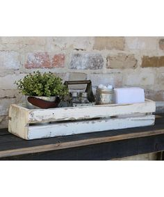 Take a look at this White Slatted Display Box today!