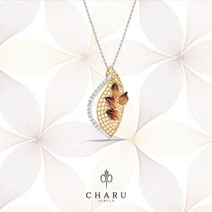 New season, new hopes and new festivities call for new styles in your jewelry box and this stunning Glitter Shield gold and diamond studded pendant set is our bet. Gold Jewellery Design, Diamond Jewellery, Diamond Studs, Diamond Pendant, Gold Pendant, Gold Jewelry, Jewelry Box, Gold Designs, Pendant Set