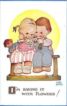 Mabel Lucie Attwell ~ vintage postcard, via  eBay