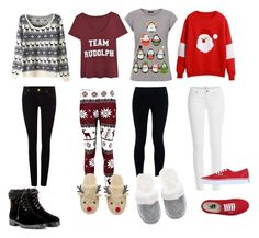"""""""Merry Christmas"""" by fatimaisawesome ❤ liked on Polyvore featuring Paige Denim, Vans, NIKE, Victoria's Secret, Aquazzura and True Religion"""