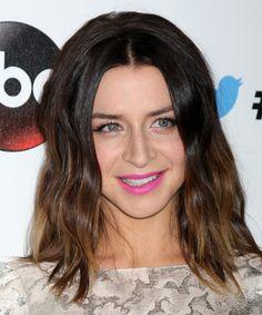 Caterina Scorsone Medium Straight Hairstyle.