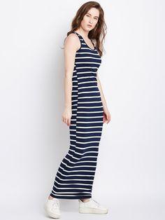 8b2d9be50fd Navy Striped Skinny Tank Dress –  Berrylush  berrylush  fashion  photoshoot   photooftheday