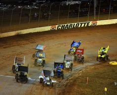 Heat race action at the World Finals  Charlotte