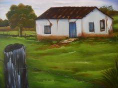 Pintura : Néia Pereira Título: Antiga Casa Fazenda Monte Belo.