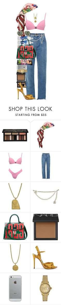 """It takes great deal of courage to see the world in all its tainted glory, and still to love it."" by quiche ❤ liked on Polyvore featuring Kat Von D, Gucci, Chloé, Chanel, Delvaux, NARS Cosmetics, Luvvitt, Rolex and Givenchy"