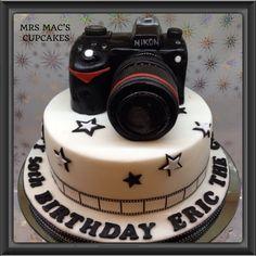 My SLR camera cake Fondant Cookies, Cupcake Cakes, Cupcakes, Birthday Surprise Husband, Happy Birthday, Camera Cakes, Creative Birthday Cakes, Instagram Cake, Big Cakes