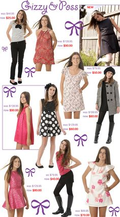 Gizzy & poss: fun, feminine clothing for tween girls at up to off + extra off store-wide Teen Girl Fashion, Cute Fashion, Kids Fashion, Summer Outfits For Teens, Cute Outfits For Kids, Summer Clothes, Cute Outfits With Jeans, Girl Outfits, Fashion Outfits