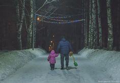 Father and child by Michael Moyseyanchik