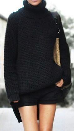 fashionable knitwear-comfy sweater- could be new favorite sweater if knitted in cashmere!
