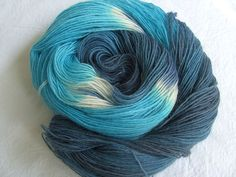 ♥ Sockenwolle 100g ♥ Schurwolle 75% ♥ Handgefärbt ♥ Made by Aleinung ♥ (111)