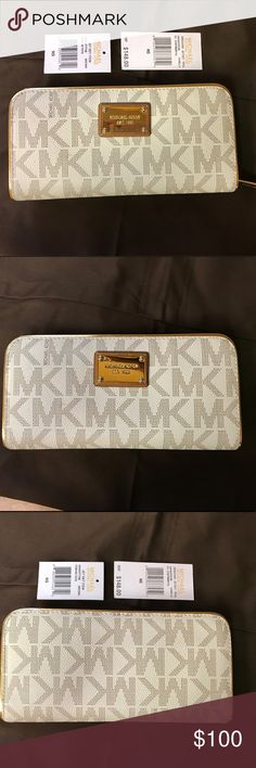 Michael Kors Wallet Vanilla Michael Kors Wallet Vanilla - plate has small scratches otherwise in great condition. Michael Kors Bags Wallets