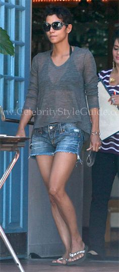 Halle Berry's style is similar to my own too. Just chillin' on a Summer's day