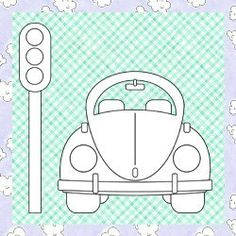 Segue o molde que fizemos de um fusquinha para patch aplique, ou se a criançada quiser pintar como desenho….também serve! Este tema é a cara de menino e co