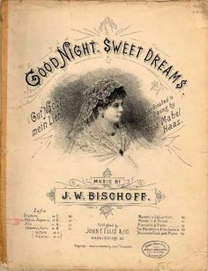 I like the colours and design layout, font etc. Good Night Wishes, Good Night Sweet Dreams, Vintage Type, Vintage Prints, Old Paper, Paper Art, Collage Background, Vintage Sheet Music, Music Covers