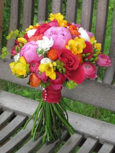 pink yellow and orange wedding - Google Search