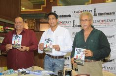 Michael Ferreira, Satyen Nabar and Nseeruddin Shah releasing the book. — with Michael Ferreira, Naseeruddin Shah and @Landmarkonthenet at Landmark