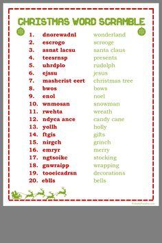 Christmas Word Scramble, Christmas Word Search, Christmas Quiz, Christmas Trivia, Christmas Words, Grinch Christmas, Christmas Countdown, Christmas Traditions, Family Christmas