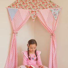 Cabaninha para festa do pijama, cabana infantil, tenda infantil, cabana decorativa, tenda para festa, cabana de tecido, tenda de tecido, cabana de brinquedo, - PAPER KIDS - Para sempre uma lembrança...