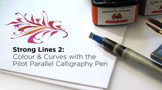 Colour & Curves with the Pilot Parallel Calligraphy Pen (Trailer). LIke what you see in this video? I have also written a book which contains much of the same information! You can purchase it via blurb: . The class can Caligraphy Pen, Calligraphy Course, Calligraphy Tools, Calligraphy Video, Handwriting Alphabet, Hand Lettering Alphabet, Calligraphy Alphabet, Typography Letters, Pilot Pens
