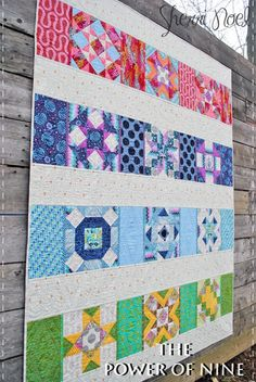 Great setting for a sampler quilt. BLOCK OF THE MONTH QUILT