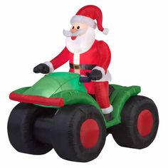 Airblown Inflatable Santa Driving Rv 4.5 Ft Yard Christmas Decoration Lights  #TrimAHomereg